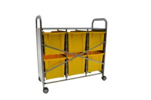 Gratnells Callero Plus Treble Tray Cart 6 Jumbo Trays Reinforced Back