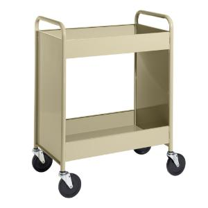 "Almond Cart with Two 4"" Deep Trays"