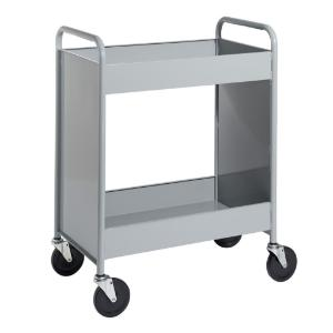 "Gray Cart with Two 4"" Deep Trays"