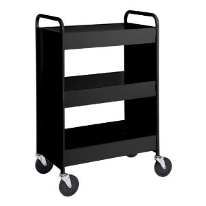 "Black Cart with Three 4"" Deep Trays"