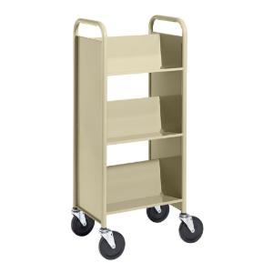 Almond Cart with Three Single-Sided Sloping Shelves