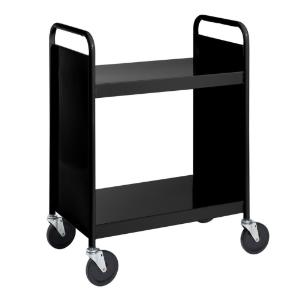 Black Cart with Two Flat Shelves