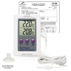 H-B® Calibrated Dual Zone Electronic Thermometer with Waterproof Sensor