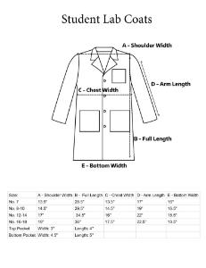 Student Laboratory Coat Measurements