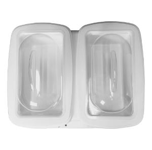 PolyPro Dual Water Bath with Lid