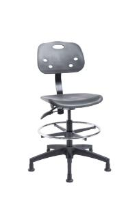 "VWR® Polypropylene Lab Chairs, Bench Height, 2"" Nylon Glides"