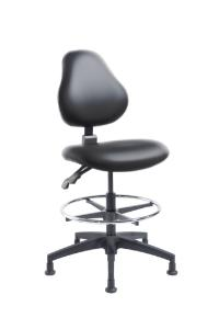 """VWR® Upholstered Lab Chairs, CAL 133, Bench Height, 2"""" Nylon Glides"""
