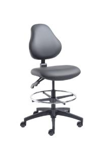 VWR® Upholstered Lab Chairs, Bench Height, Dual Soft-Wheel Casters