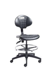 VWR® Urethane Lab Chairs, Bench Height, Dual Soft-Wheel Casters