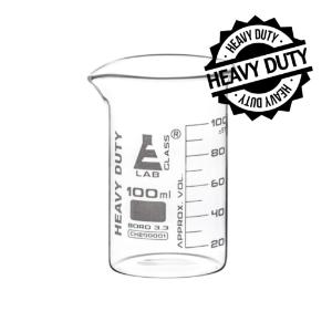 Beaker heavy duty glass 100 ml