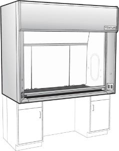 Venturi V15 General Purpose Bench Fume Hood, ADA Bench Fume Hood with Vertical Rising Sash, Kewaunee Scientific