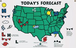 Weather Wall Classroom Hanging Map