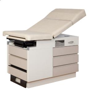Left handed examination table