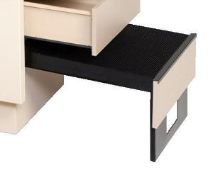Examination table foot step