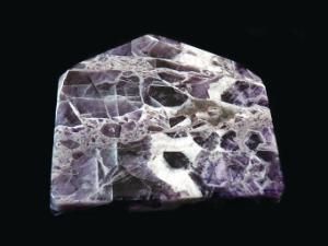 Quartz, Amethyst Polished Slice