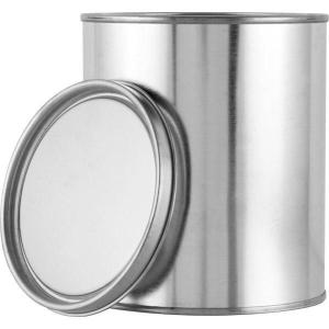Round Metal Can and Lid