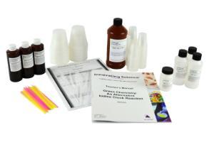 Alternative iodine clock reaction lab kit