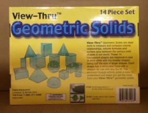 View-Thru™ Colored Geometric Solids