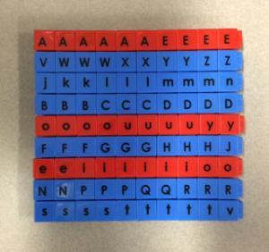 Unifix Letter Set, Pre K-4