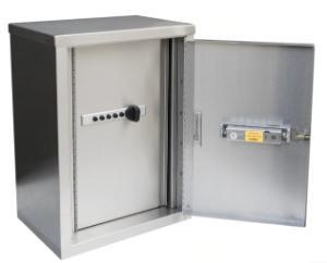 2 shelf cabinet combo lock open