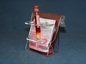 Blood Bag Holder with Tube Holder, Mitchell Plastics