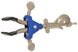 Premium Two-Prong Clamp with Dual Screw Adjustment, Vinyl Coated