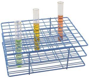 Blue Epoxy-Coated Steel Wire Test Tube Racks
