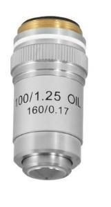 Objective, 100×, oil, retractable, DIN achromatic