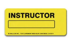 Wallcur® Instructor Locator Sign