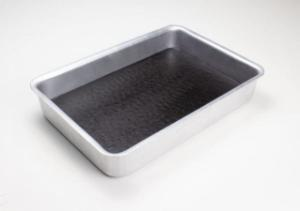 Dissecting pan aluminum with wax