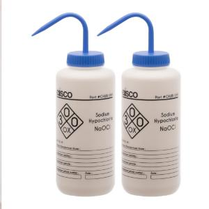 Wash bottles, Sodium hypochlorite, 1000 ml