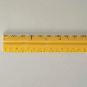 "12"" Rigid Plastic Ruler"