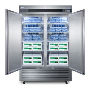 Medical laboratory series freezer with solid door and casters, 49 cu.ft.