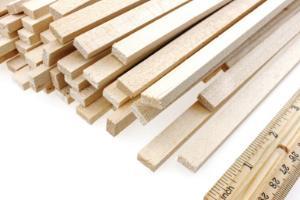 TeacherGeek Wood Strips 5mm x 10mm x 305mm (1ft.)