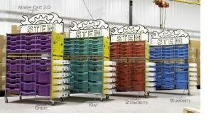 Cart Bin with Colors