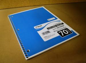 Notebook, Spiral Bound 1 Subject
