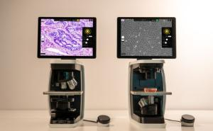 Rebel Hybrid Microscope, Upright and Inverted, Discover Echo