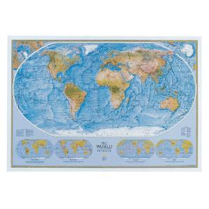 World Physical/Ocean Floor Map