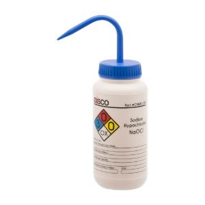 Wash bottle, sodium hypochlorite, 500 ml