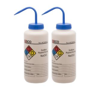 Wash bottle, sodium hypochlorite, 1000 ml